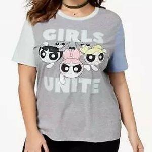 Hybrid Plus Size Powerpuff Girls T-Shirt Size 2X